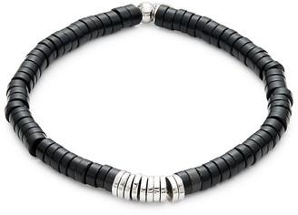 Tateossian Sterling Silver Beaded Bracelet
