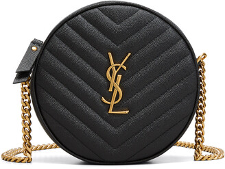 Saint Laurent Jade Round Quilted Crossbody Bag