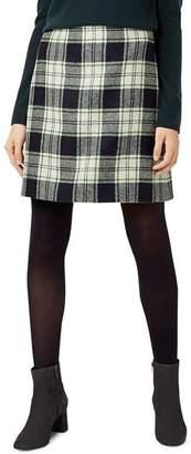 Hobbs London Elea Plaid Wool Skirt