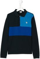 Paul Smith colour block polo shirt