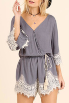 Umgee USA Lace Trim Romper