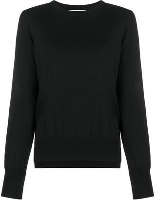 Enfold Slit-Hem Pullover Jumper