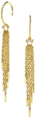 Celara 14K Yellow Gold Fringe Wire Drop Earrings