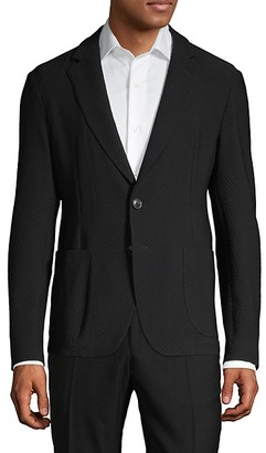 Armani Collezioni Standard-Fit Textured Soft Jacket