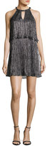 Ella Moss Metallic Popover Shift Dress, Black