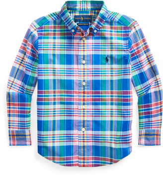 Ralph Lauren Plaid Cotton Poplin Shirt