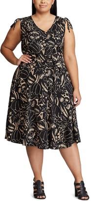 Chaps Plus Size Fit & Flare Dress