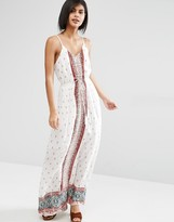 Vero Moda Border Print Maxi Dress