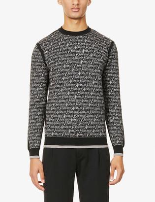 Emporio Armani Intarsia wool-blend jumper