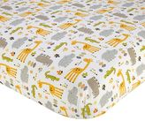 NoJo Zoobilee Zoo Animals Fitted Crib Sheet