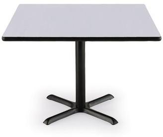 """KFI Studios Square Table Size: 30"""" H x 36"""" L x 36"""" W, Top Finish: Gray Nebula"""