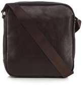 Jeff Banks Brown Leatherette Mini Flight Bag
