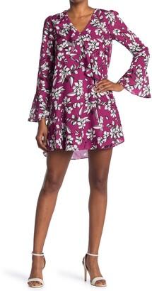 Parker Long Sleeve Ruffle Shirt Dress