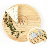 Cathy's Concepts CATHYS CONCEPTS Personalized Gourmet 5-Pc. Cheese Board Set With Utensils