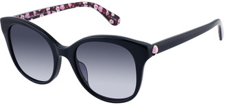 Kate Spade Bianka Round Acetate Sunglasses, Black/Purple