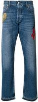 Alexander McQueen embroidered straight-leg jeans - men - Cotton - 46