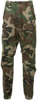 R 13 camouflage cropped trousers