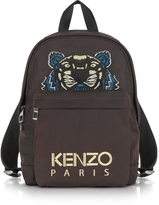 Kenzo Burgundy Canvas Medium Tiger Backpack