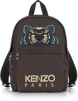 Kenzo Burgundy Canvas Medium Tiger Backpack