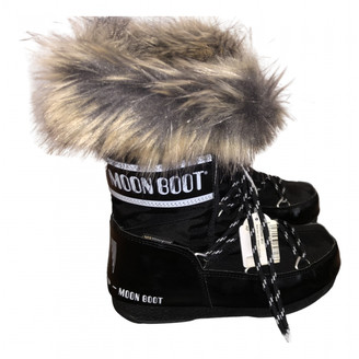 Moon Boot Black Faux fur Boots