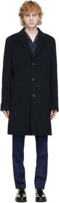 HUGO BOSS Navy Malte Coat