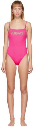Versace Underwear Pink Medusa Coin One-Piece Swimsuit