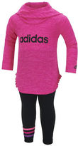 adidas Baby Girls Logo Hoodie and Pants Set