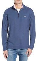 Vineyard Vines Men's Reverse Oxford Quarter Zip Pullover