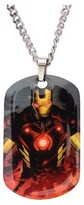 "Iron Man Ironman Men's Marvel Graphic Stainless Steel Dog Tag Pendant with Chain (22"")"