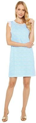 Lilly Pulitzer Agee Dress (Zanzibar Blue Beach Happy Stripe) Women's Dress