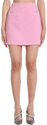 Alessandra Rich Skirt In Rose-pink Viscose