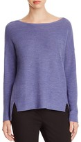 Eileen Fisher Drop Shoulder Merino Wool Sweater