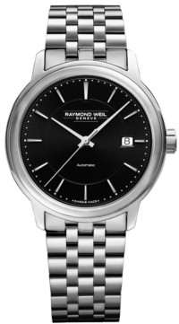 Raymond Weil Men's Swiss Automatic Maestro Stainless Steel Bracelet Watch 40mm