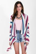 Goddis Liv Drape Sweater In Sunny Isles