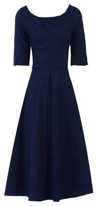 Dorothy Perkins Womens *Jolie Moi Navy Scoop Neckline Skater Dress, Navy