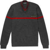 Balenciaga - Embroidered Stretch Wool-blend Sweater