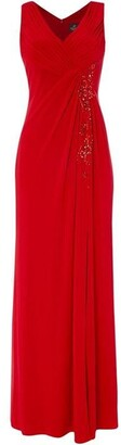 Adrianna Papell V neck gown