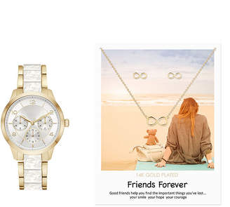 Alexis Bendel Friends Forever Womens Two Tone 3-pc. Watch Boxed Set-7878g-18-B01