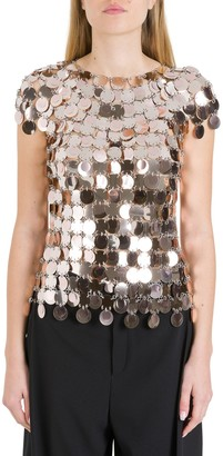 Paco Rabanne Metallic Sequinned Top
