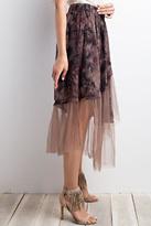 Easel Crinkled Mesh Skirt