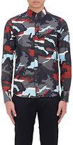 Moncler Gamme Bleu Men's Camouflage Piqué Shirt-GREY, NO COLOR
