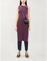 Pleats Please Issey Miyake Hidden Colors pleated woven mini dress