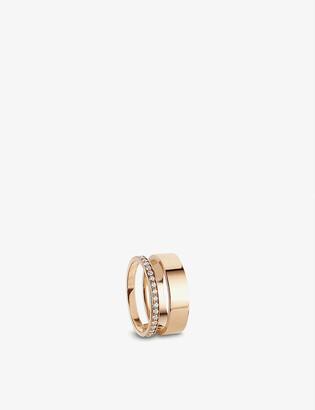 Repossi Berbere Module 18ct rose-gold and diamond pav? ring