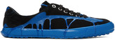 Comme des Garcons Black and Blue Painted Novesta Sneakers