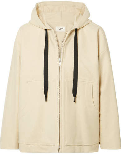Etoile Isabel Marant Chelsea Hooded Wool-blend Jacket - Cream