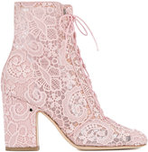 Laurence Dacade Milly lace boots - women - Cotton/Leather - 35
