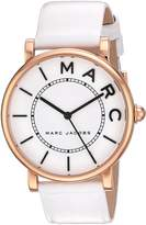 Marc Jacobs Women's 'Roxy' Quartz Stainless Steel and Leather Casual Watch, Color:White (Model: MJ1561)