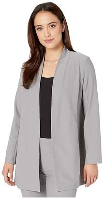 Eileen Fisher Petite Long Jacket (Zinc) Women's Clothing