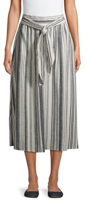 Time and Tru Women's A-Line Skirt with Tie Waist
