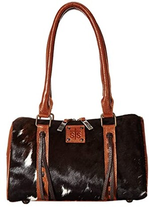 STS Ranchwear The Classic Satchel (Cowhide/Brown Leather) Handbags